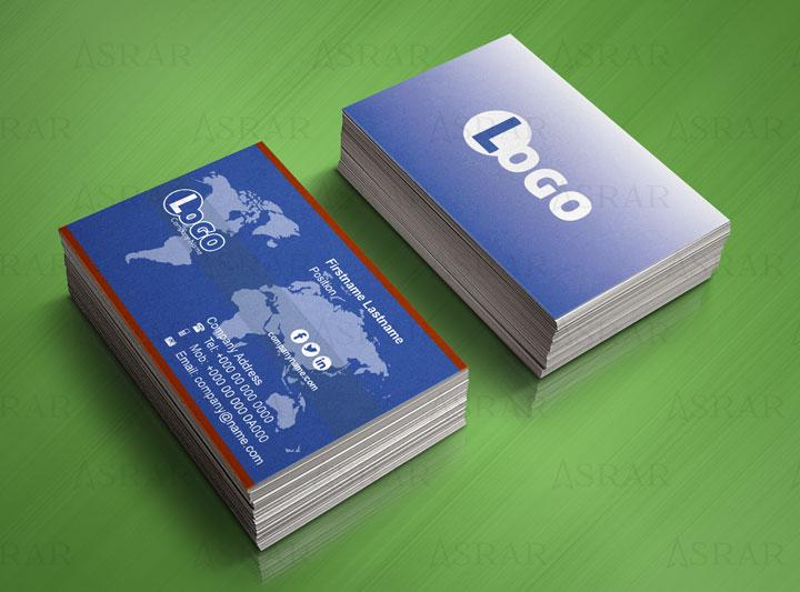 تصميم بزنس كارد لشركات عالمية