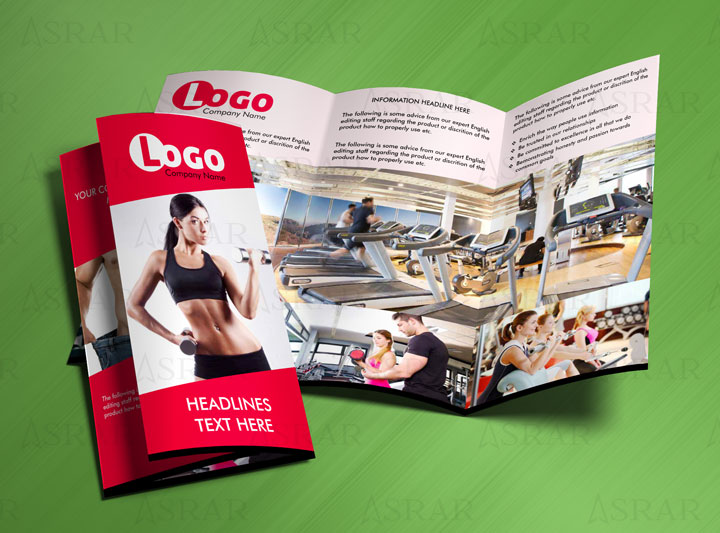Gym and Fitness Center Brochure Template