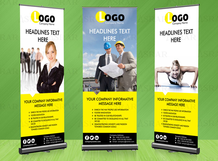 Construction Company Roll up Banner