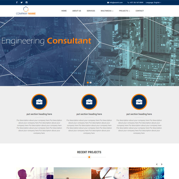 Engineering Consultant ready template